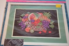 Sunset Cross Stitch Kit Fruit Basket Black Aida Cloth