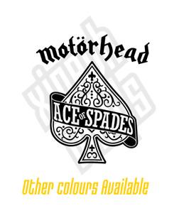 Motorhead Lemmy ace spades vinyl sticker decal car cd album (window optional)