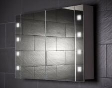 100 cm Spiegelschrank CUBE100 großer Badezimmerschrank Beleuchtung Steckdose