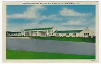 Green Motor Lodges, Montgomery Alabama Lot of Two Vintage Unused Postcards