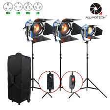 Pro Film Dimmer Built-in 650W+1000W*2 Fresnel Tungsten Spot light+case+stand*3