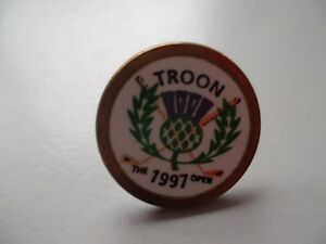Open golf ball marker from 1997 - Troon