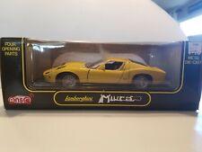 Anson Lamborghini Miura 1/18 Scale Die Cast Model Car - Yellow