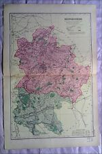 Bedfordshire, anni 1890 Gate Mappa PIEGA