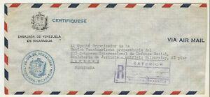 Nicaragua: Cover diplomatic circulated from Managua to Caracas,...NI05/
