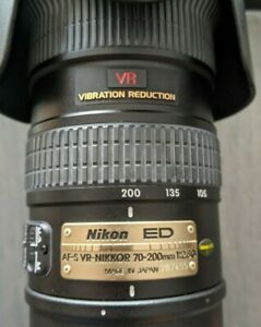 Exc Cond - NIKON ED AF MICRO NIKKOR 70-200mm F/2.8 D LENS w/ case & accessories
