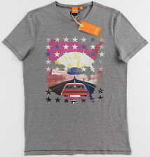 Men's HUGO BOSS ORANGE Gray Grey USA Desert T-Shirt Tee Shirt Large L NWT NEW