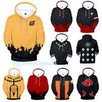 Naruto0 Hokage Ninjia Hoodie Cosplay Costume Unisex Hooded Pullover Sweatshirt