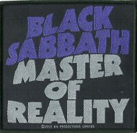 Black Sabbath Patch MASTER OF REALITY Woven Patch