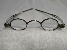 1822 GEORGIAN SIGNED SOLID SILVER RARE ENGLISH SPECTACLES IN SUPERB CONDITION