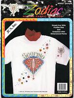 """JCA, Inc. Zodiac No-Sew Fabric Applique # 03021 """"SCORPIO"""" Printed in Full Color"""