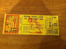 1967 NFL Championship Game Phantom Football Ticket  Los Angeles Rams VINATGE OLD