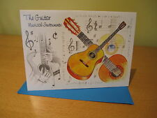 GUITAR GREETINGS CARD with envelope blank for your own message