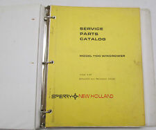 Sperry New Holland Service Parts Catalog Model 1100 Windrower 3 Ring Binder