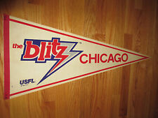 """1982 USFL THE BLITZ CHICAGO 30"""" Pennant"""