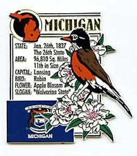 Michigan the Wolverine State Montage Fridge Magnet