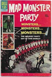 Mad Monster Party 1967 Silver Age Dell Movie Classic Comic Book Fine Condition