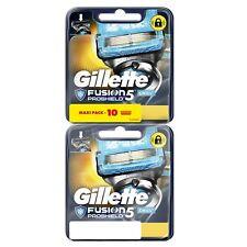 Lot 10 lames de rasoir homme Gillette Fusion Proshield 5 Chill Maxi Pack 497089