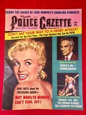 Vtg National Police Gazette Magazine Jan. 1959 Marilyn Monroe Cvr + Photos Pinup
