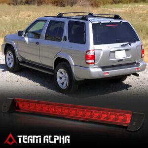 Fits 2001-2004 QX4/Pathfinder [Chrome/Red] LED Third 3rd Brake Light Tail Lamp