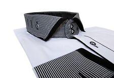Slim-fit Hemd Button Down Muga*281*Gr.S schwarz