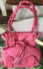MICHAEL ROME DESIGNS Pink Italian Leather Handbag Shoulder Bag Purse Large NWT