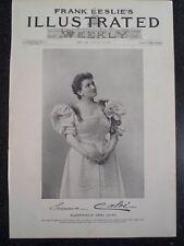 French Emma Calve Metropolitan Opera New York City Frank Leslie's 1894 Original