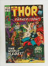 Mighty Thor #187 - Father Vs Son! Odin Battles With Thor! - (Grade 7.0) 1971