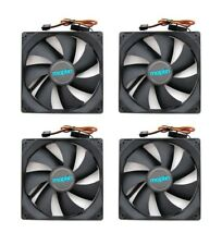 3 x Maplin 1200RPM 120mm 12cm Black Fans Cooler Fan Case PC Computer 3 + 4 Pin