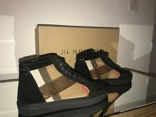 High top BURBERRY Suede Leather Sneakers with payette/ sequins classic chekers