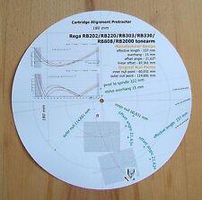 Rega RB202/RB220/RB303/RB330/RB808/RB2000 Cartridge Stylus Alignment Protractor