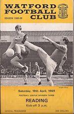 Watford V lettura-DIV 3 - 19/4/1969 - programma di calcio