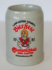 Vintage Lancaster County Bierfest 1981 Gerz Beer Stein Bier Garten EUC
