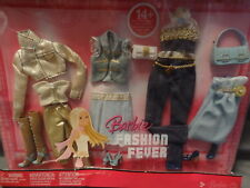 Barbie Fashion Fever Pack 4 Outfits With 14 + Pieces 2007 Mattel L3389 NEW