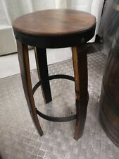 Reclaimed Whiskey barrel  hand  made solid oak  bar stools