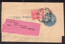 2952 Argentina To Chile Ps Stationery Wrapper 1907 Bs. As. - Punta Arenas