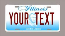 """Illinois custom novelty license plate-your name or text 6""""x12"""""""