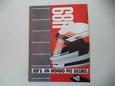 advertising Pubblicità 1991 CASCO HELMET JEB'S
