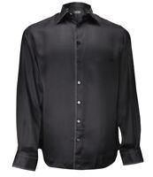 size 42,43,44,46 Zilli Men/'s White with black collar Cotton Shirt Slim Fit
