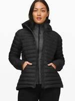 Lululemon Women Pack It Down Hooded Jacket Black Size 4 NWT Free Shipping