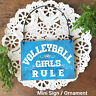 DECO Mini Sign Volleyball Girls Rule Wood Ornament Volleyball Team Favor Gift US