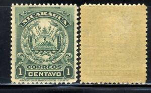 1905 Nicaragua Coat of Arms ⚔️Stamp SC 179 A18 lc green MNH OG