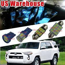 14-pc Aqua Ice Blue LED Light Interior Package Kit For 2013-up Toyota 4Runner
