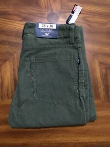 Vineyard Vines Men's Green 5 Pocket Corduroy Pants 28x30 (actual 28x29) NWT