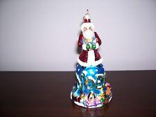 """Christopher Radko """"Noel Santa"""" Bell Christmas Ornament"""