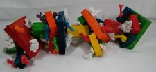 New listing Bird Play Stand Gym Perch Knots Block Chewing Toy Lg T2