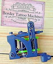 """LINER"" BORDER TATTOO MACHINE,CUSTOM IRON BLACK FRAME CUSTOM 8 LAYER 32MM COILS"