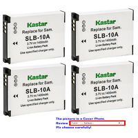 Kastar Replacement Battery for Samsung SLB-10A & Samsung EX2F HZ10W L100 Camera