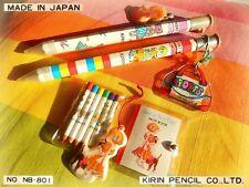 Vintage KIRIN JAPAN stationery Jumbo Pencil + Mini SET Notebook Colored Pencils
