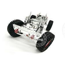 455MM RC Silver 1/10 AXIAL SCX10 CNC Rock Crawler Chassis W/ Servo ESC Motor